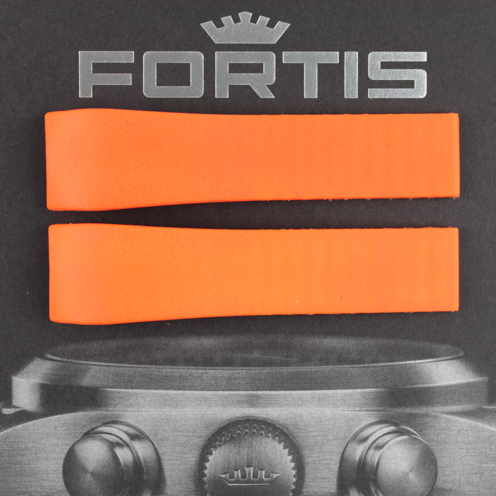 Fortis B-47 Silikonband mit integrierten Anstoß orange