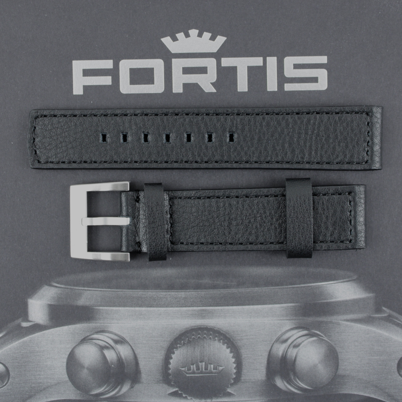 Fortis Aviator Lederband 21mm für Flieger F- Modelle