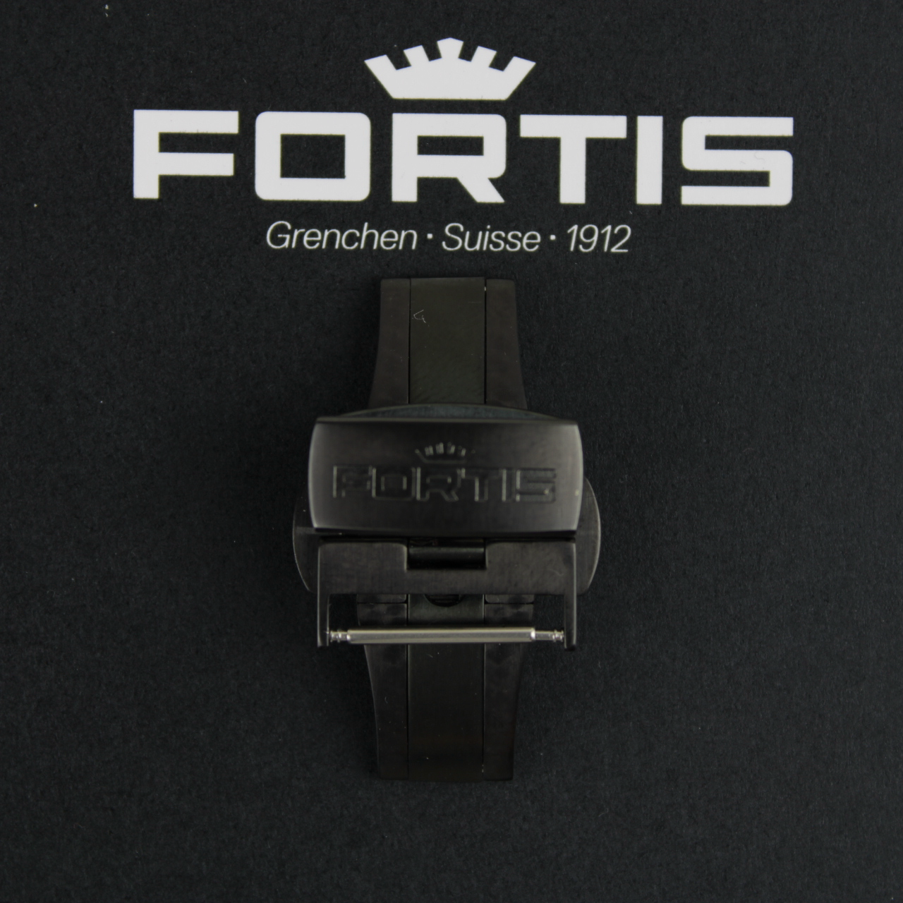 Fortis Faltschließe für Lederbänder Titan PVD