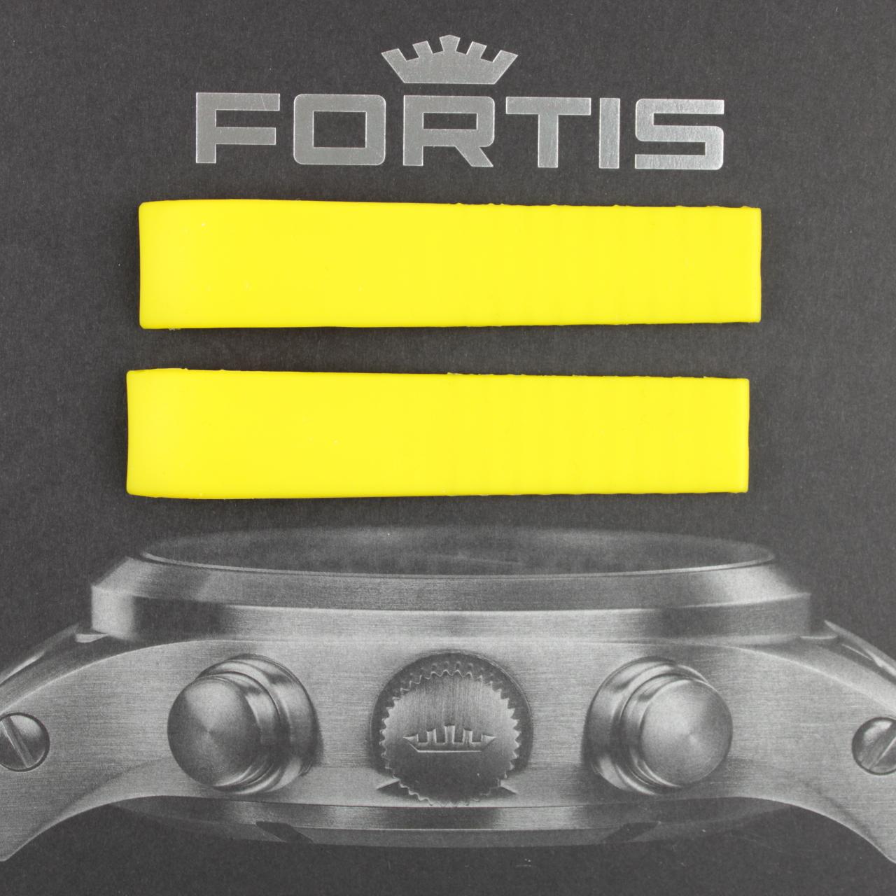 Fortis Silikonband mit integrierten Anstoß gelb