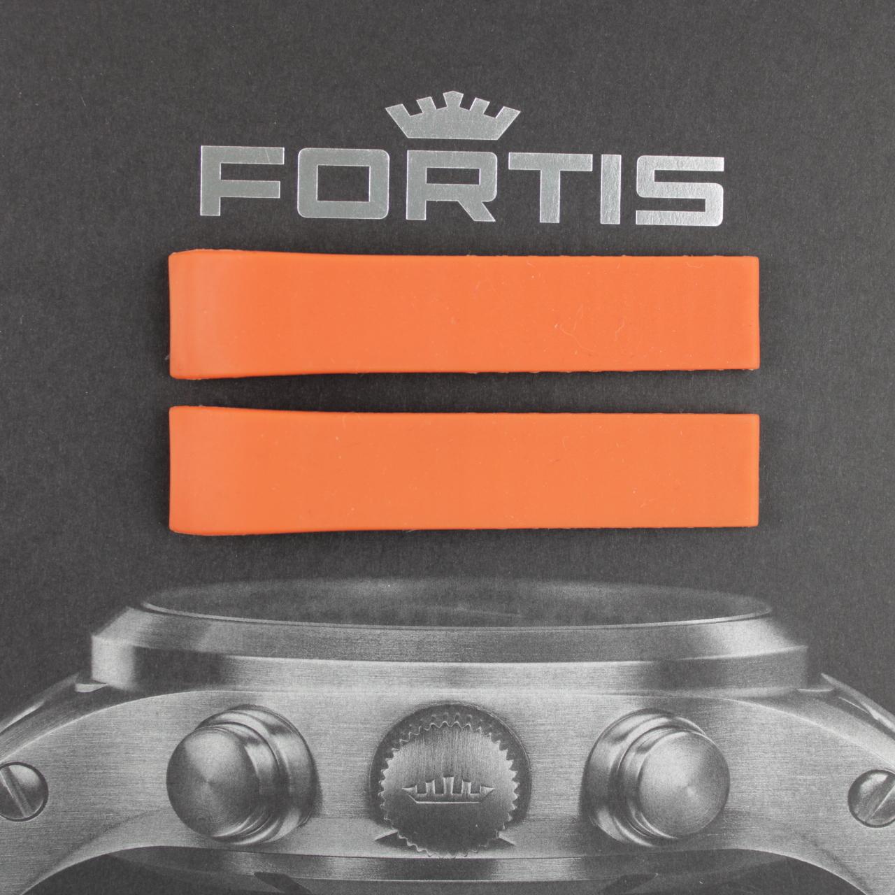 Fortis Spacematic Silikonband mit integrierten Anstoß braun