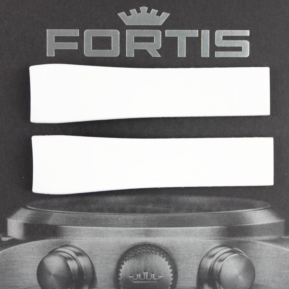 Fortis B-47 Silikonband mit integrierten Anstoß weiss