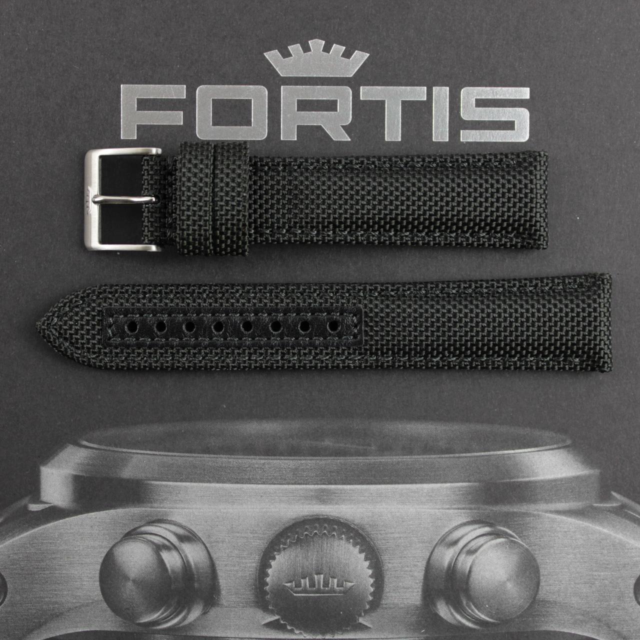 Fortis Cordura Band schwarz mit schwarzer Naht.
