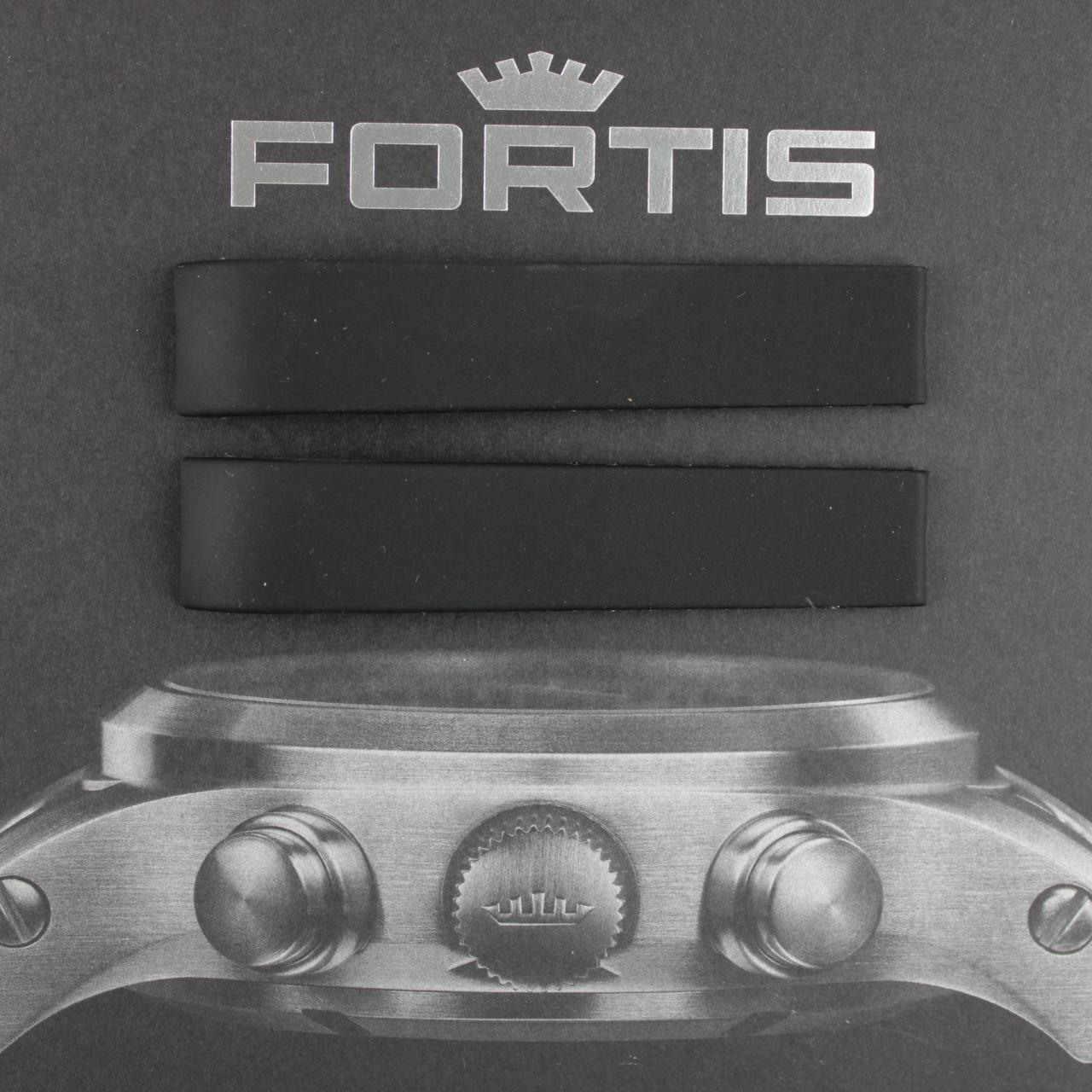 Fortis Silikonband mit integrierten Anstoß schwarz