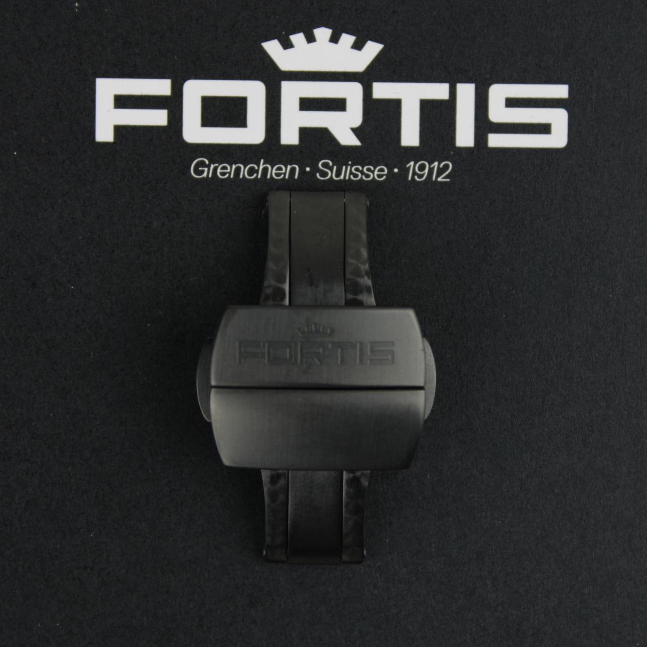 Fortis Faltschließe für Silikonbänder Edelstahl PVD